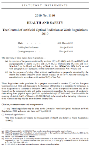 AOR Directive Regulations